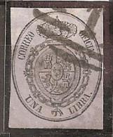 ESPAÑA 1855 - Edifil Esp. #38 (parrilla Con Cifra) - Precio Cat. €32.50 - 1850-68 Kingdom: Isabella II
