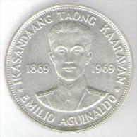 FILIPPINE 1 PESO 1969 AG KASANDAANG TAONG KAARAWAN - Filippine
