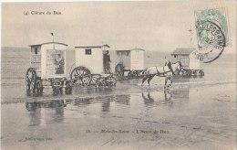 59 MALO Les BAINS CABINES  Affiches Publicitaires  Tractées Par Un CHEVAL à L´ Heure Du BAIN De MER  1905 - Malo Les Bains