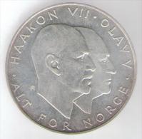 NORVEGIA 25 KRONER 1970 AG SILVER - Norvegia