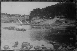 (83).SANARY.PLAGE DE LA GORGUETTE.BELLE CARTE CIRCULE 1924.CACHET POSTE ISLE SUR SORGUES (84).TBE. - Sanary-sur-Mer