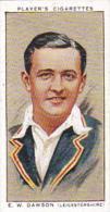 Player Vintage Cigarette Card Cricketers 1934 No 7 E W Dawson