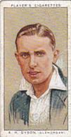 Player Vintage Cigarette Card Cricketers 1934 No 8 A H Dyson