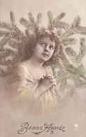 Bonne Année - Jeune Fille - N° 771 - 2 Scans - - Nouvel An