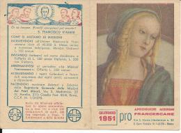 CAL050 - CALENDARIETTO 1951 - MISSIONI FRANCESCANE - Calendriers