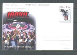 2003 TURKEY 100TH ANNIVERSARY OF BESIKTAS THE CHAMPION POSTCARD - 1921-... Repubblica