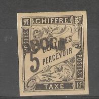 Obock_ Chiffre Taxe - 5c Non Dentelé -  Belle Marge (une Signature )