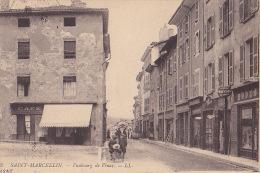 38 / SAINT MARCELLIN / FAUBOURG DE VINAY / TRES JOLIE CARTE / CAFE MODE / HUISSIER / LL 23 - Saint-Marcellin