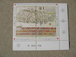 SMOM 2008 ANTICHE TAVOLE GEOGRAFICHE ISOLA DI MALTA - BLOCCO INTEGRO - Malte (Ordre De)