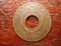 BRITISH EAST AFRICA USED ONE CENT COIN BRONZE Of 1935 . - East Africa & Uganda Protectorates