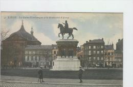 CP Liège La Statue Charlemagne Et Le Boulevard D'Avroy Vers 1905 Anon. Colorisé - Lüttich