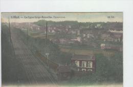 CP Liège La Ligne Liège-Bruxelles Panorama Anon.vers 1906   Légèrement Colorisé - Luik
