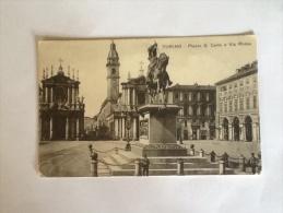 TORINO PIAZZA SAN CARLO E VIA ROMA NON VIAGGIATA E - Places & Squares