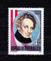 AUSTRIA   1990 , Ferdinand Raimund  - Writter   , Y&T  #  1822  Cv   1.35  E , **  M N H , V V F - 1945-.... 2a Repubblica