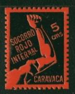 CARAVACA  Socoro Rojo Internacional  5 Cts * - Spanish Civil War Labels