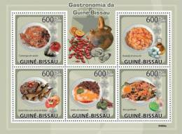 gb9409a Guinea Bissau 2009 Gastronomia s/s Shess Fruit Fish
