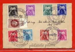 FRANCE EXPOSITION POSTE AERIENNE SUR CARTE LETTRE DE PARIS DE 1943 - Poste Aérienne