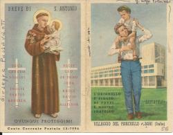 CAL069 - CALENDARIETTO 1956 - VILLAGGIO DEL FANCIULLO BARI - Calendriers