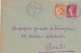 LETTRE PIERREFITTE S/SAULDRE JOLI CACHET 11/12/40 PAIX 80C-SEMEUSE 20C P/PARIS - 1921-1960: Modern Period