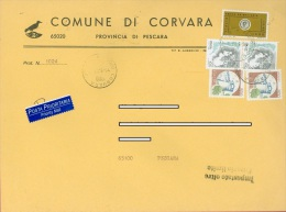 1999 - ITALIA - STORIA POSTALE - POSTA PRIORITARIA + CASTELLI + DONNA NELL' ARTE - 1991-00: Storia Postale