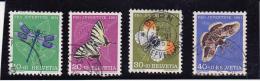 SUISSE  N° 513 A 516 OBLITERES - PAPILLONS-PRO JUVENTUTE