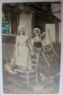 THEMES - METIERS - Le Rempailleur    1909 - Kunsthandwerk