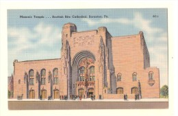 M14 MASONIC TEMPLE Scottish Rite Cathedral SCRANTON Pennsylvania PA Postcard UNUSED - Other