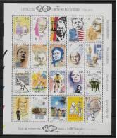 2858/77** Blok 83** Kuifje, Tintin, Charlie Chaplin, Gandhi, Mandela, Kennedy, Lenin, Eddy Merckx, Edith Piaf - Blokken 1962-....