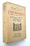 HISTOIRE DE BELGIQUE : Comte WOESTE - MÉMOIRES 1859-1894 - Tome I, 1927 - TBE - Histoire