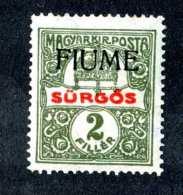 5144x)  Fiume 1918  - Scott # E-1 ~ Mint* ~ Offers Welcome! - 8. WW I Occupation
