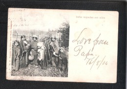 CHILE Indias Mapuches Con Ninos Undivided Back Postcard USED - Chili