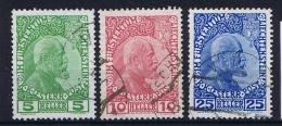 Liechtenstein: 1912: Nr 1 - 3 Used - Gebraucht