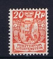 Liechtenstein: 1925:  Mi Nr 70  MH/* - Liechtenstein