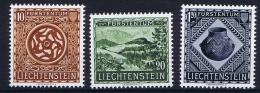 Liechtenstein: 1953:  Mi Nr 319 - 321 MH/* - Liechtenstein