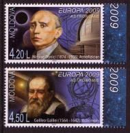 MOLDOVA/Moldawien EUROPA 2009 Astronomy Set Of 2v** - Europa-CEPT