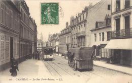 59 CAMBRAI - RUE PORTE ROBERT  1908 TRAMWAY    38018 - Cambrai