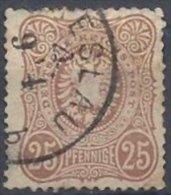 25 Pfennige Brun-rouge Oblitéré De 1875-7 - Used Stamps