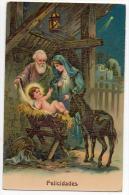 Christmas Noel Navidad Natale Birth Vintage Original Postcard Cpa Ak (W3_2480) - Noël