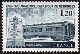 France N° 2022 **  Armistice De Rethondes - Wagon - Rail - Nuovi