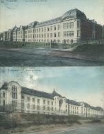 Morlanwelz - Vue D'ensemble De L'athénée - 2 Cartes Couleur, Même Série - 1912 ( Voir Verso ) - Morlanwelz