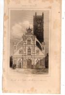 Gravure Sur Acier , XIX éme Siècle , 13 X 21 Cm  ,l´église SAINT PIERRE à AUXERRE, Frais Fr : 1.60€ - Stiche & Gravuren
