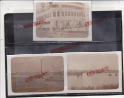 Anvers Belgique Port Bateau 20 Et 21 Mai 1934 Ensemble 3 Photos Très Anciennes - Places