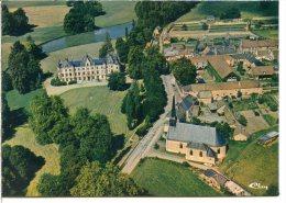 2 Scans - 28330 CHARBONNIÈRES - Le Château Et L'église - Le Village Vu D'avion - Autres Communes