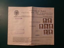 34/414  LETTRE ESPAGNE - 1951-60 Cartas