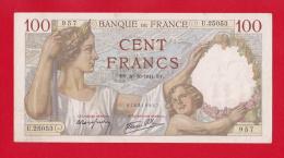 """BILLET DE 100  FRANCS  """"SULLY""""  DU  30-10-1941  U.25053 - 100 F 1939-1942 ''Sully''"""