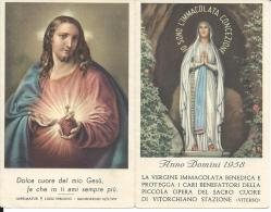 CAL096 - CALENDARIETTO 1958 - PICCOLA OPERA DEL SACRO CUORE DI VITORCHIANO STAZIONE (VITERBO) - Calendriers