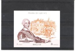 """Prueba Oficial De Correos Nº 17 ** (AÑO 1988 """"CARLOS III"""" ) - Blocs & Hojas"""