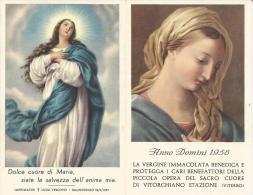 CAL101 - CALENDARIETTO 1958 - PICCOLA OPERA DEL SACRO CUORE DI VITORCHIANO STAZIONE (VITERBO) - Calendriers