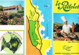 Hotel Restaurant LE ROITELET Chez Daviddi CANADEL SUR MER 83 - Etiquetas De Hotel