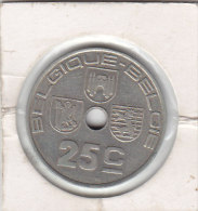 25 CENTIMES Maillechort Léopold III 1939 FR/FL - 1934-1945: Leopold III